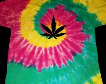 Rasta Pot Leaf Tie dye T-Shirt