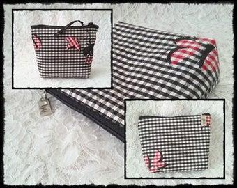 Black & red *-make-up bag 112 fb. 07 + 08