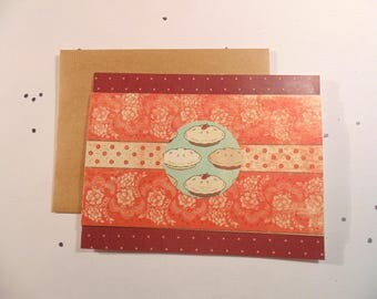Lovely Pies Greeting Card, Handmade One of a Kind