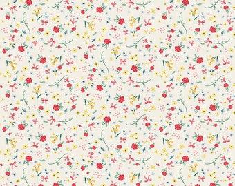 Calico - Penny Rose Fabric - Bunnies & Cream C6022 Cream by Lauren Nash - Quilt, Quilting, Clothing, Crafts