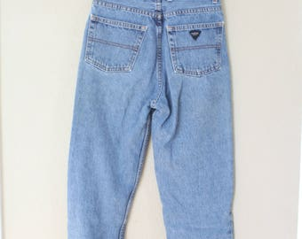 vintage 1980's high rise guess mom  jeans denim 27