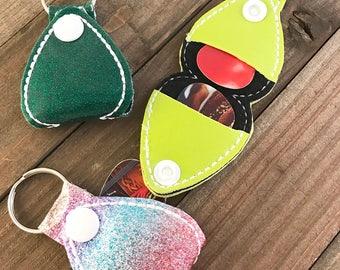 Guitar Pick Holder, Guitar Pick Keychain, Guitar Pick Snap Tab, You choose---70 Colors
