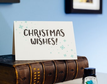 Christmas Wishes Letterpress Card