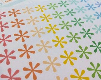 Asterisk Planner Stickers | Star Planner Stickers | Erin Condren Stickers | Life Planner | Happy Planner | RB006