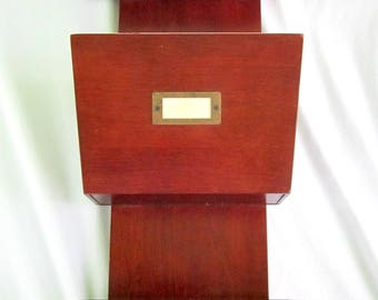 Hanging File Folder Wood Desk Organizer Bin Storage Home Office Desk Organization