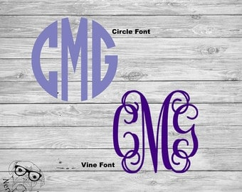 Monogram Car Decal, Monogram Laptop Decal, Monogram Decal, Monogram Window Decal, Monogram Tumbler Decal - You choose size, font, and color