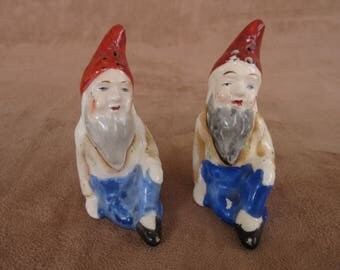 Vintage Gnome Salt and Pepper Shakers Made in Japan