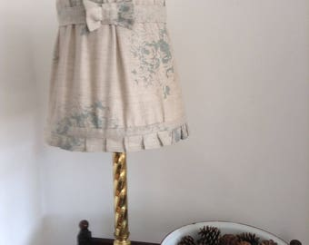 Cabbages and roses hatley blue French style shabby chic lampshade