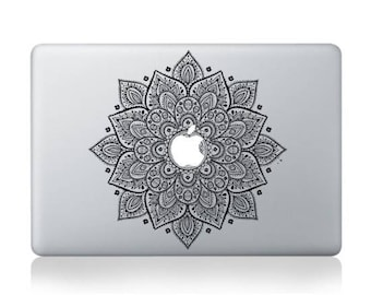 Macbook 13 inch decal sticker Black magic flower kaleidoscope for Apple Laptop