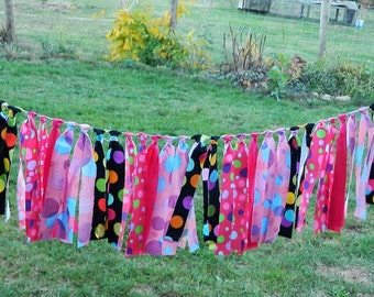 Pink Fabric, Banners, bunting, Garland Vintage, graduation day, Banner for Outdoor Wedding, Happy Birthday, Girls Bedroom, Backdrops, party,