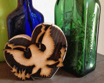 Love Your Solider Wooden Upcycled Heart