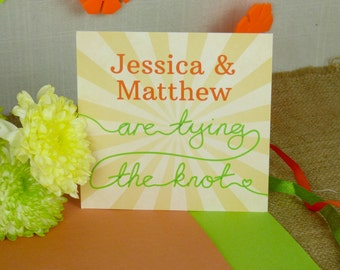 Sunburst Nautical Wedding Invitation