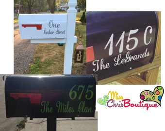 Mailbox Numbers, Custom Mailbox Address Decal, Mailbox Decals