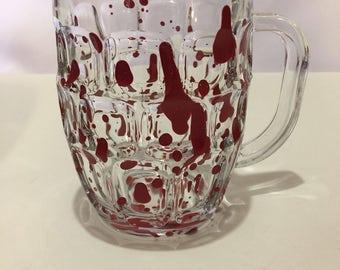 BloodSpattered Dimpled Coffee or Beer Mug