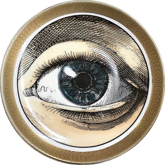 Oculus - Eye - Vintage Porcelain plate - #0465Limited Edition