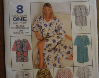 McCalls 8569, robe in three lengths, UNCUT sewing pattern, craft supplies, misses, womens,