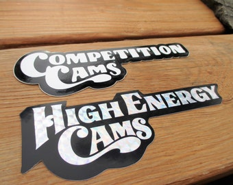 Competition and High Energy Cams Decals Stickers