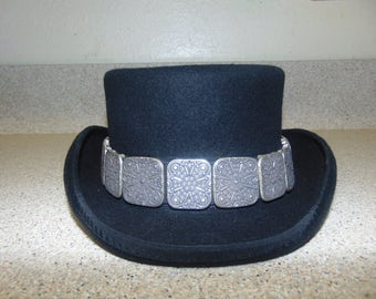 Wool Tuxedo Western Look Black Top Hat
