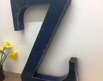 Large Metal Letter Z