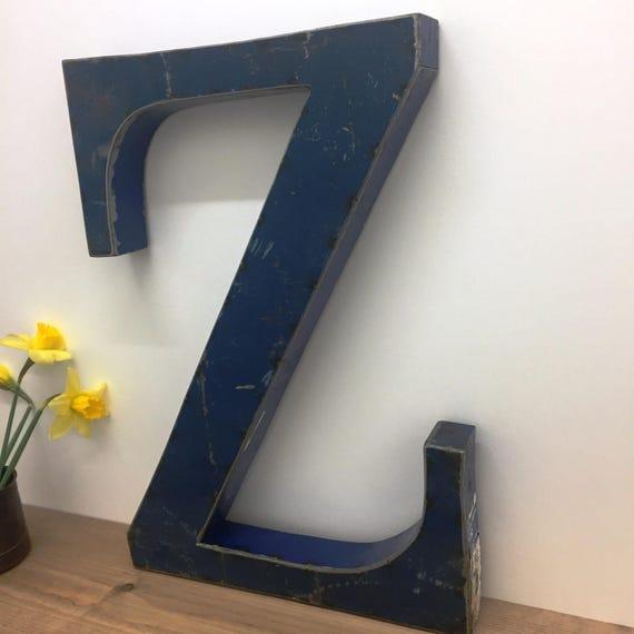 Large Metal Letter Z Large Metal Letter Z