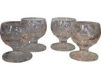 Elegant Irish Cut Crystal Goblets - Set of 4