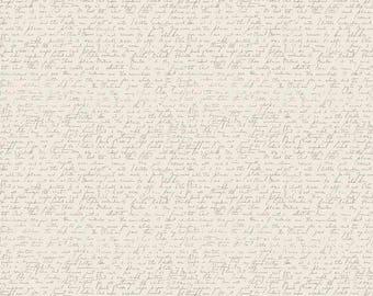 Ava Rose - Script Cream by Deena Rutter for Riley Blake Designs, 1/2 yard,C5876-CREAM