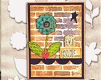 Flower and Leaves Scrapbooking Embellishments- Wendy Vecchi Mat Mini