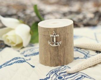 Driftwood Ring Box, Nautical Engagement Ring Box, Ring Bearer Box,  Pillow Alternative, Proposal Ring Box, Wedding Ring Box