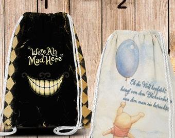 Gym-Bag, Gym Drawstring Bag, Turnbeutel, Sportbeutel, Gymnastikbeutel , Mad & Pooh