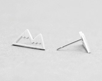 Minimalist Mountain nature wanderlust earings