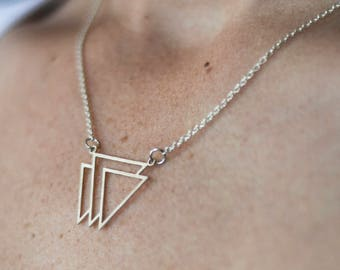 Triple triangle minimalist aztec Tribal
