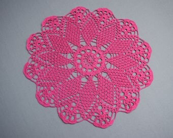 large crochet doily vintage style round doily lace doilies crochet centerpiece table decoration wedding gift pink