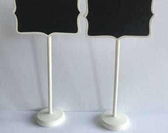 10 White Frame Blackboard Table Card Stands Place Holder Food Label Wedding Party Decorations Baby Shower Rustic Wedding Lolly Buffet Sign