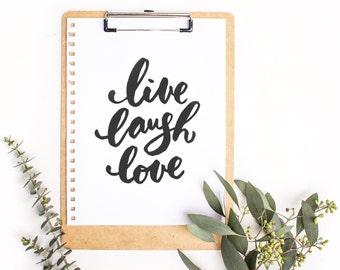 Art print - Live Laugh Love