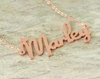 Personalized Rose Gold Jewelry Name Necklace Graduation Gift For Her Wedding gift