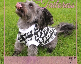 Size 4 Jasra Tee Jacket Jumper Clothing Clothes for Small Pet Dogs PDF Sewing Pattern ePattern Digital Instant Download