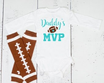 Baby Boy Football Outfit, Girl Football Bodysuit, Daddys MVP, Baby Football Outfit, Football Bodysuit & Leg Warmers
