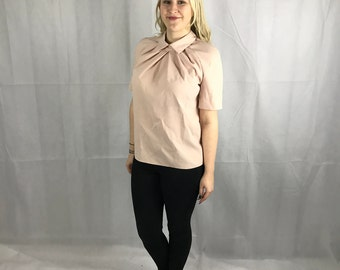 1940's  Style Handmade Pink Blouse