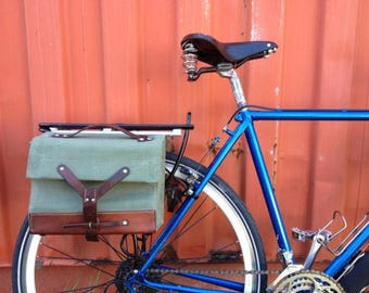 Swiss Ammo Bicycle Panniers with Portland Design Works Rack - Repurposed Vintage Military Issue Bags