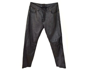 Vintage Yanks Clothing Company real leather black men pant