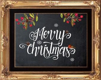 merry christmas printable, printable christmas art, christmas artwork, christmas printable, christmas decor, you print, 8 x 10