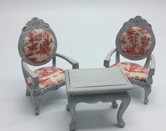 Armchairs & coffee table set