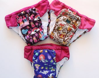 Set of 3 waterproof training pants, eco friendly cloth pull ups, waterproof cloth pull up, potty training underwear, outdoor training pants
