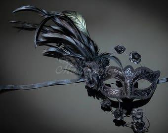 Mardi Gras Mask, Masquerade Mask, Mardi Gras, Masquerade Mask, Masquerade Ball Mask, Mardi Gras, 4everstore Black