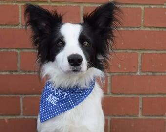 ADOPT ME Dog Bandanas, Slip on Dog Bandana, Adoption Bandana, Dog Rescue Bandana, Personalised Bandana, Adopt Me Dog Bandana
