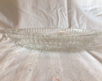 Vintage Clear Glass Divided Relish Dish