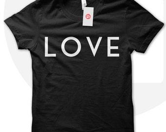 LOVE t shirt, love shirt, gift for girlfriend, gift for wife, girlfriend's birthday t shirt, love clothing, romantic t shirt, valentines day