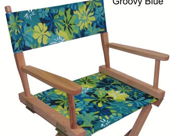 Everywhere Chair Waterproof CANVAS Replacement Cover Set for Directors Chair (FLAT STICK, Canvas)