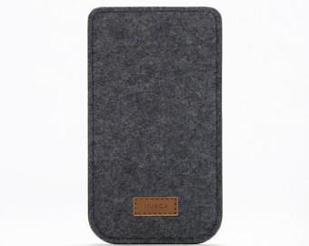 iPhone 6+ Case - Felt Sleeve iPhone - Cover iPhone 6s+ Felt - Grey Case iPhone