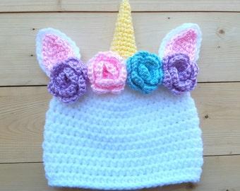 Unicorn Hat - unicorn photo prop - unicorn baby gift - unicorn baby hat - unicorn baby gift - unicorn baby shower - unicorn birthday outfit